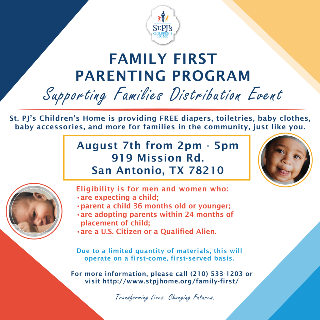 family first distribution event graphic